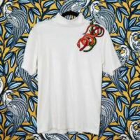 NCM Bähr Theodora T-Shirt weiß mit Schlangen-Stickerei