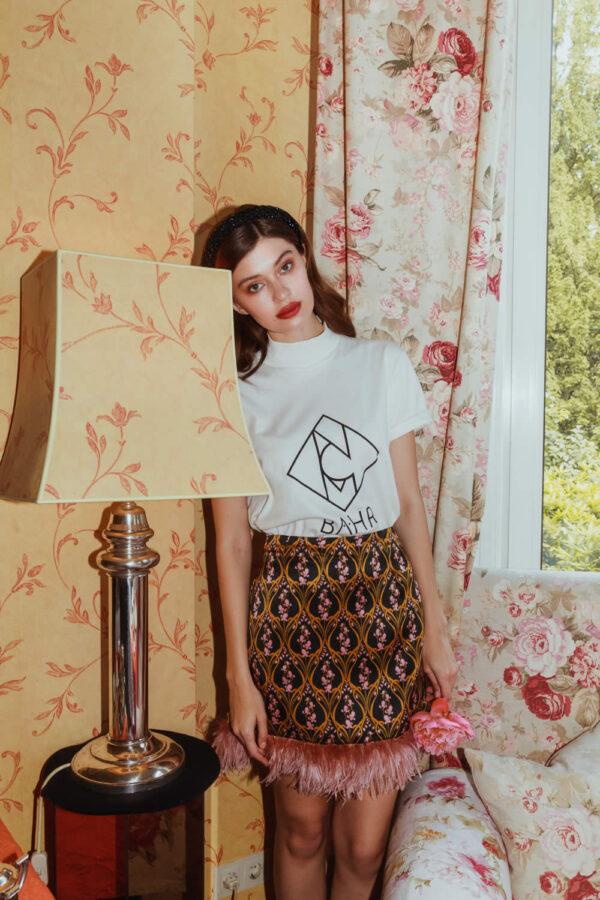NCM Bähr Designer T-Shirt weiß mit Logo