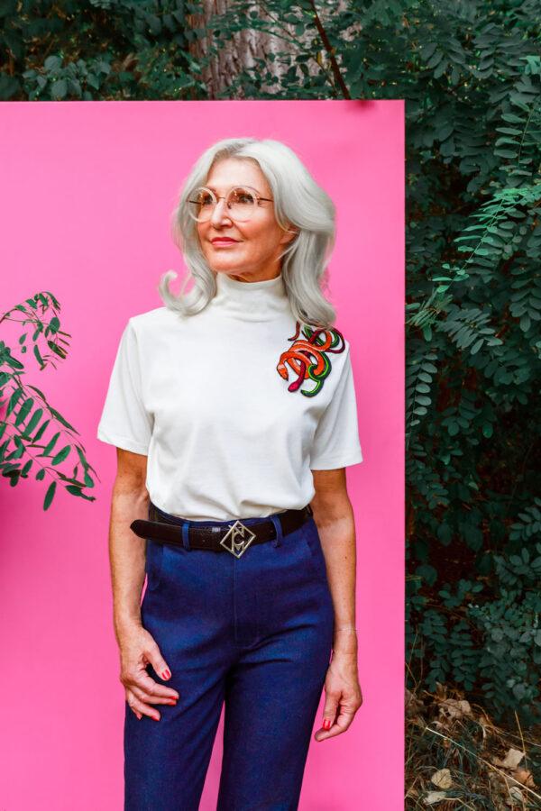 NCM Bähr Theodora T-Shirt mit Schlangenstickerei