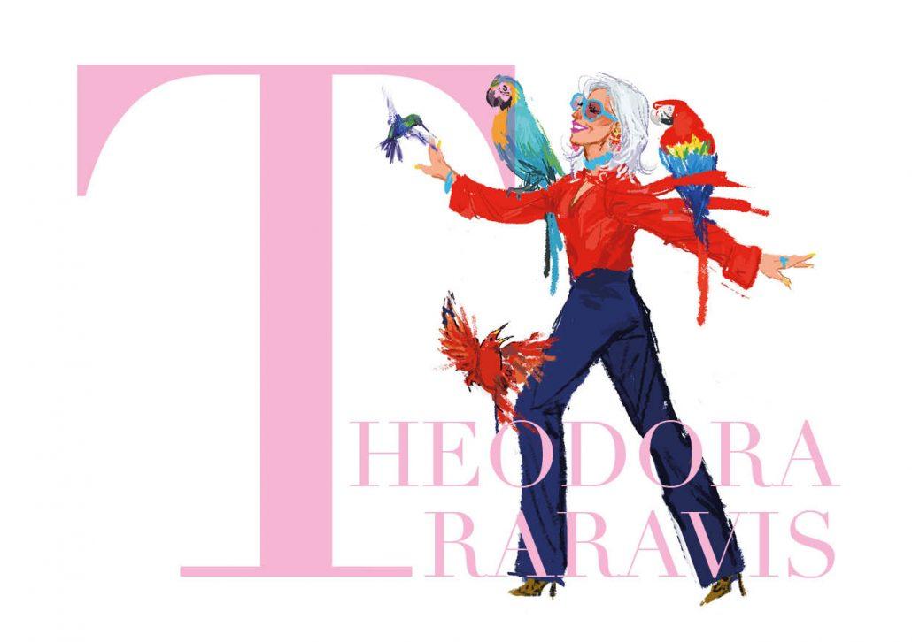 Theodora Designerkollektion Modeillustration