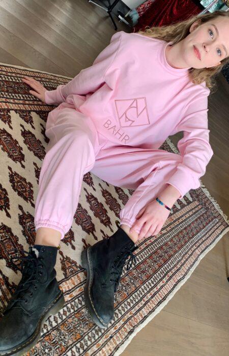 Designer Sweatshirt Jogginghose Jogginganzug homewear rosé