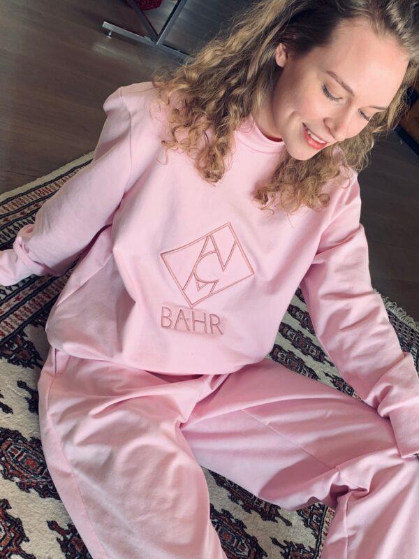 Designer Sweater Jogginganzug homewear rosé