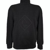NCM-Baehr-Sweatshirt-mit-Logo-Stickerei-Designer-Sweater-schwarz