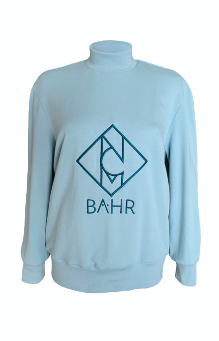 Logo-Sweatshirt-NCM-Baehr-Stickerei-Designer-Sweater-aquqmarin