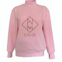 Designer Sweatshirt sweater mit Logo rosé
