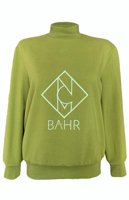 Sweatshirt-mit-Logo-Stickerei-Designer-Sweater-grün