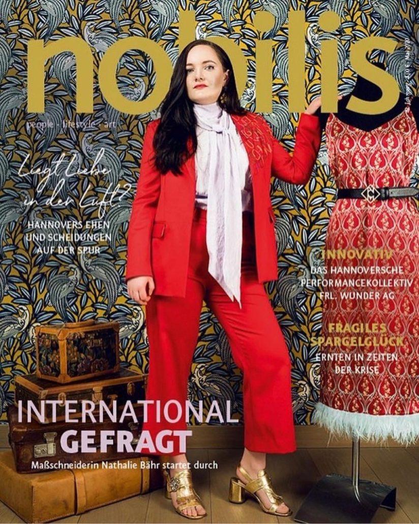 Nobilis Magazine Artikel über Maßschneiderin/ Designerin von Damenmode in Hannover