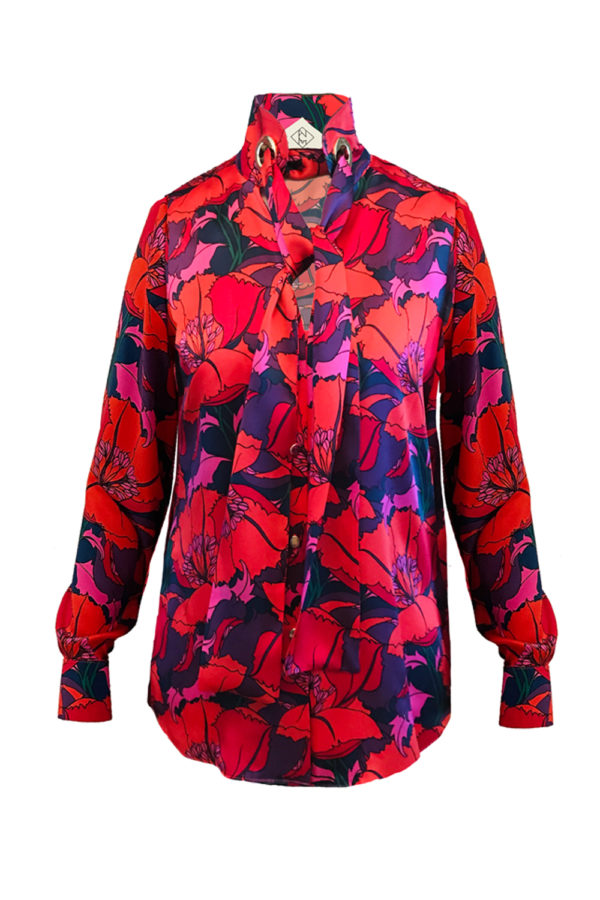 Seidenbluse-mit-Print-Bluse-Designer
